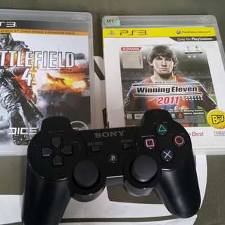 Original ps3 controller with 2 game dualshock 3