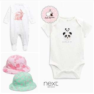 NEXT KIDS/ BABY UK - Bodysuit/ Sleepsuit/ Hat