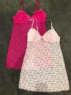 Women's pink nighties