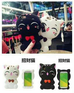 3D full body fortune cat silicone case