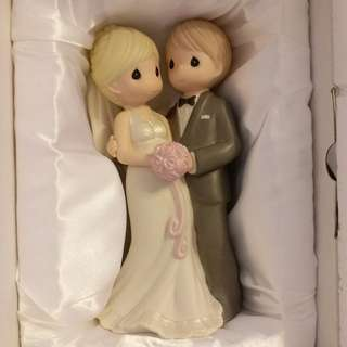 "Precious Moments  ""We Join Hands And Hearts""  陶瓷公仔 結婚公仔 Wedding Gifts"