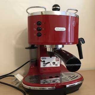 ❤️ De'Longhi red espresso coffee maker (Icona ECO310.R pump driven)