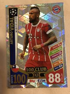 Match Attax Champions League 100 Club XI Cards