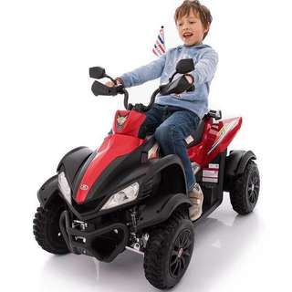 Red Licensed Dooma Rechargeable Ride On Car ATV Big Bike with Rubber Tires
