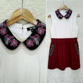 Korean Statement Collar Dress