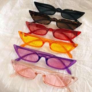 Cat Eye Acrylic Plastic Sunglasses