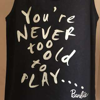 [SALE] You're never too old mesh tee   Barbie   418-LP02