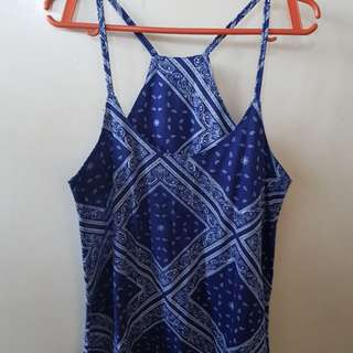 Blue Spaghetti Strap Top