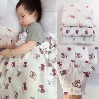 [PO48]120x120cm Muslin Baby Toddler Cotton Swaddle Towel