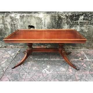 //ORI DECO工業風老件// 美國 造型矮桌 展示桌 茶几 線板收邊 桌腳美
