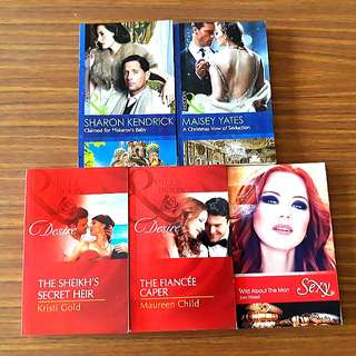 5 for $10: Mills & Boons: A Christmas Vow of Seduction, Claimed for Makarov's Baby, The Fiancee Caper, The Sheikh's Secret Heir, Wild About The Man