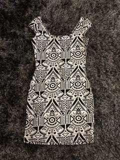H&M Aztec Bodycon Dress