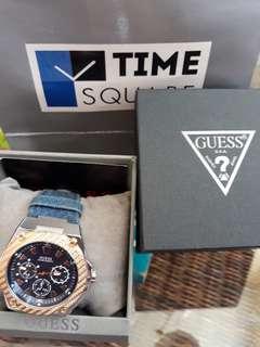 Original GUESS watch with denim strap