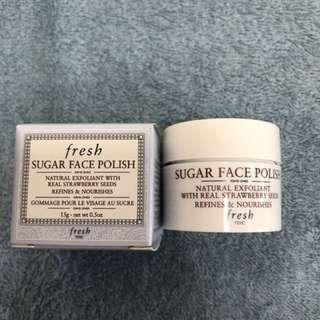 (100%New) fresh sugar face polish 15g