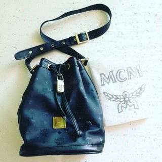 💯 Authentic MCM Bucket with GHW Padlock (MM size) *Preloved*