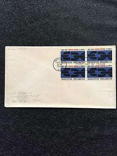 US 1963 Emancipation Blk4 FDC Stamp