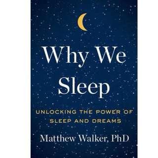Ebook- Why We Sleep: Unlocking the Power of Sleep and Dreams
