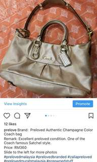 Coach handbag authentic 100%
