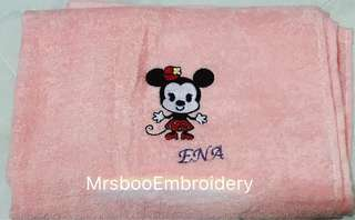 Minnie Mouse Customise bath towel