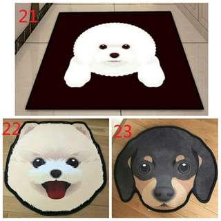 狗狗 狗頭 地毯 柴犬 比熊犬 法鬥 地毯 巴哥 吉娃娃 臘腸狗 哈士奇 地毯 地墊 造型地毯 黃金獵犬 狗狗 毛小孩