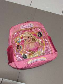 Pre-loved Barbie knapsack school bag