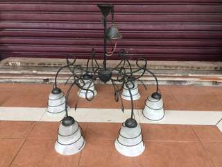 Classical Root Iron Chandelier Hanging Light