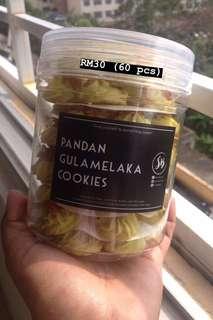 Pandan Gula Melaka Cookies