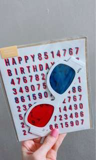 Typo Birthday Card 生日卡