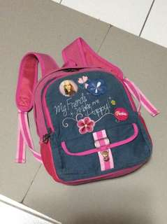 Barbie canvas/denim knapsack bag