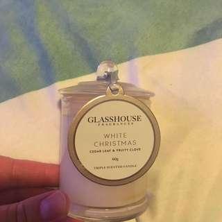 Glasshouse White Christmas Candle