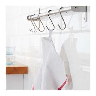 [IKEA] TEKLA Tea towel, white, red