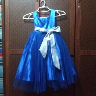 Little Girl - Royal Blue Gown