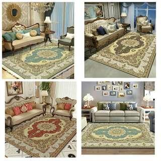 歐式 貴族 優雅 風格 地毯 時尚 地毯 居家裝飾 田園 花邊 毛小孩 最愛 地墊 聖誕節 禮物 交換 禮物 情人節