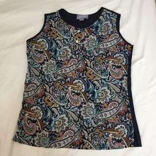 Juana printed sleeveless top