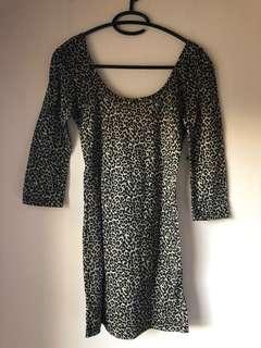 Topshop leopard print dress