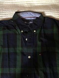 tommy hilfiger long sleeved shirt