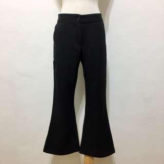 🚚 全新,韓系修身顯瘦超好搭高腰純色西裝布喇叭褲,九分褲,S,小M