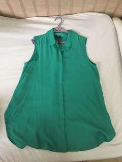 Mango green sleeveless