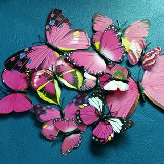 12x BNIP butterfly 3D Sticker Decor