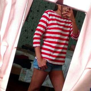 Red Stripe Blouse