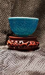 Porcelain blue Dragon cup