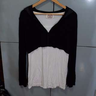 Herbench White Top and Black Hoodie