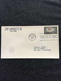 US 1963 Red Cross FDC Stamp