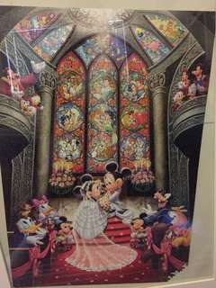 1000 piece Disney puzzle and frame