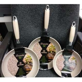 3 pc Forged Frying Pan Set 20/24/26cm