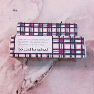 🚚 Too cool for school 熱力四射睫毛膏#4勃根地紅