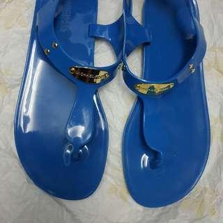 Michael Kors blue jelly sandals