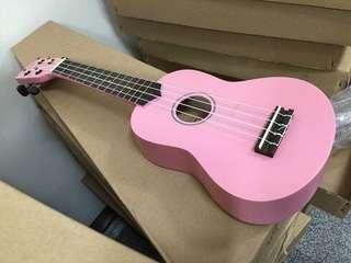 粉紅色21吋高級烏克麗麗