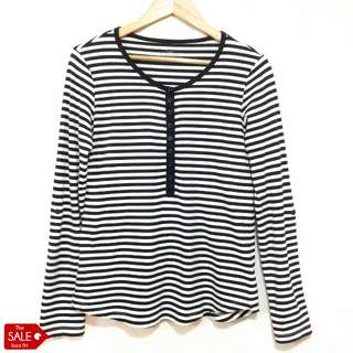 Giordano Striped Long Sleeved Tee