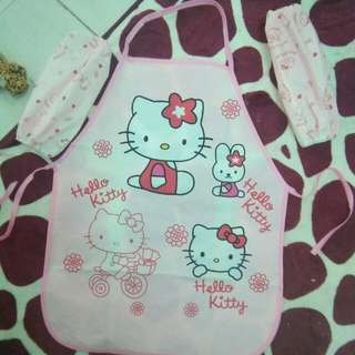 Set Apron Hello kitty Kids